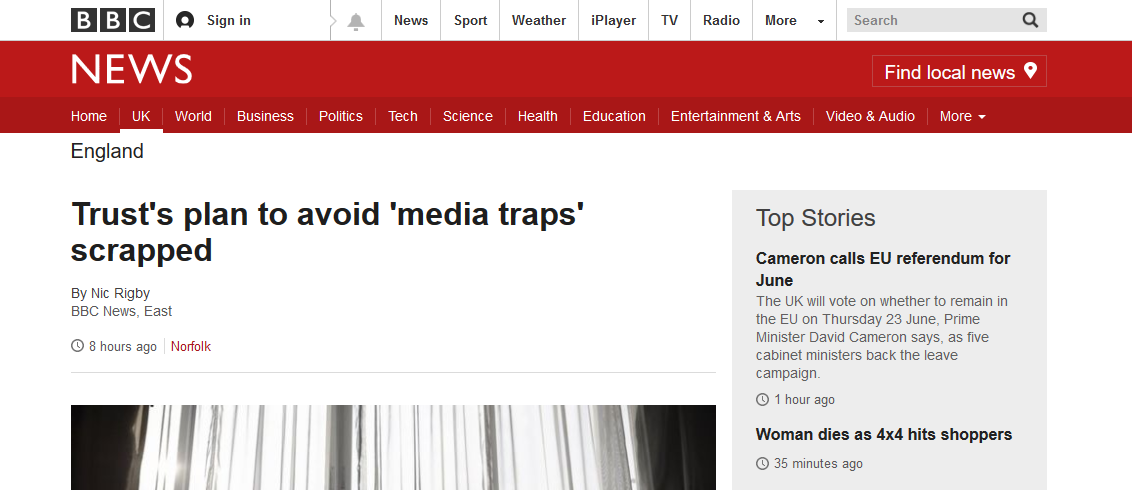 BBC News Trusts plan to avoid media traps scrapped