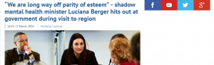 "EDP: ""We are long way off parity of esteem"" - shadow mental health minister Luciana Berger hits out at government during visit to region"