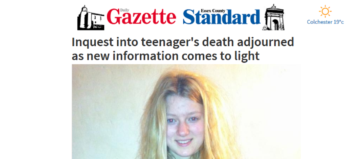 Daily Gazette Inquest into teenagers death adjourned as new information comes to light