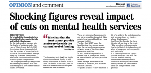 EDP: Letter: Shocking Figures Reveal Impact of cuts on Mental Health Services