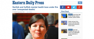 EDP: Norfolk and Suffolk mental health boss under fire over 'unexpected deaths'