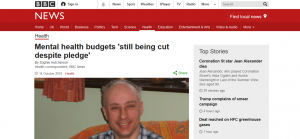 BBC News: Mental health budgets 'still being cut despite pledge'