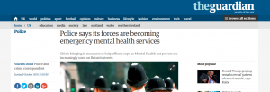 Guardian: Police says its forces are becoming emergency mental health services
