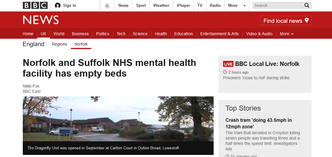 bbc-news-norfolk-and-suffolk-nhs-mental-health-facility-has-empty-beds