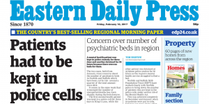 EDP Front Page: Mental health patient kept in Norfolk police cell for three days