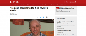 BBC News: 'Neglect' contributed to Neil Jewell's death