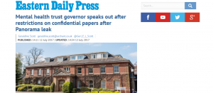 EDP: Mental health trust governor speaks out after restrictions on confidential papers after Panorama leak