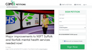 Petition: Major improvements to NSFT Suffolk and Norfolk mental health services needed now!