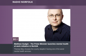 Audio: BBC Radio Norfolk: Theresa May asked to apologise for Norfolk and Suffolk having the worst mental health trust in the country