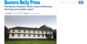EDP: Mundesley Hospital's shock closure following damning care quality report