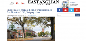 Greed: EADT: 'Inadequate' mental health trust NSFT slammed for directors' £10,000 pay rises