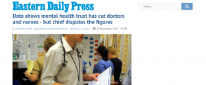 EDP Data shows mental health trust has cut doctors and nurses - but chief disputes the figures