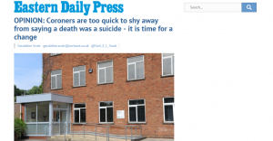 EDP: OPINION: Coroners are too quick to shy away from saying a death was a suicide - it is time for a change