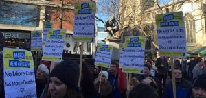 Protest: Against Greed, Mental Health Cuts and NHS Privatisation: 'No to Branson': 1130-1200 Thursday 1st March 2018: Carrow Road, Norwich NR1 1JE