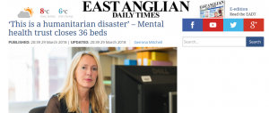 EADT: 'This is a humanitarian disaster' – Mental health trust closes 36 beds