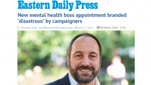 EDP: New mental health boss appointment branded 'disastrous' by campaigners