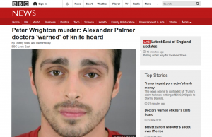 BBC News: Peter Wrighton murder: Alexander Palmer doctors 'warned' of knife hoard