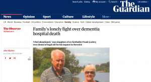 Observer: Family's lonely fight over dementia hospital death