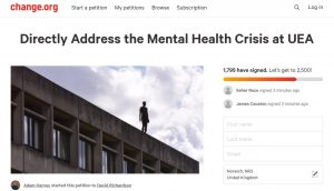 Petition: Directly Address the Mental Health Crisis at UEA
