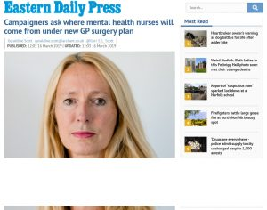 EDP: Campaigners ask where mental health nurses will come from under new GP surgery plan
