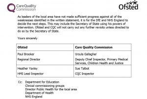 CAMHS Crisis: Joint Ofsted/CQC Inspection in Suffolk: NSFT's CAMHS services are 'poor quality' and 'next steps... may include the Secretary of State using his powers of intervention'