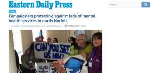 EDP: Campaigners protesting against lack of mental health services in north Norfolk