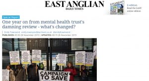 EADT: Special Report: One year on from mental health trust's damning review - what's changed?