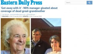 EDP: 'Got away with it' - NHS manager gloated about coverage of dead great-grandmother