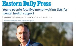 EDP: Young people face five month waiting lists for mental health support
