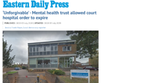 EDP: 'Unforgivable' - Mental health trust allowed court hospital order to expire