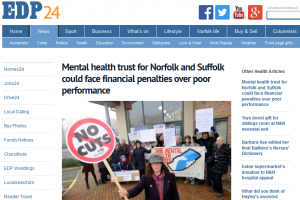 EDP: Mental health trust for Norfolk and Suffolk could face financial penalties over poor performance