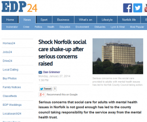 EDP: Shock Norfolk social care shake-up after serious concerns raised