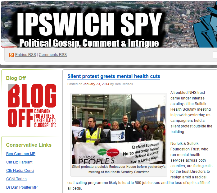 Ipswich Spy Silent protest greets mental health cuts