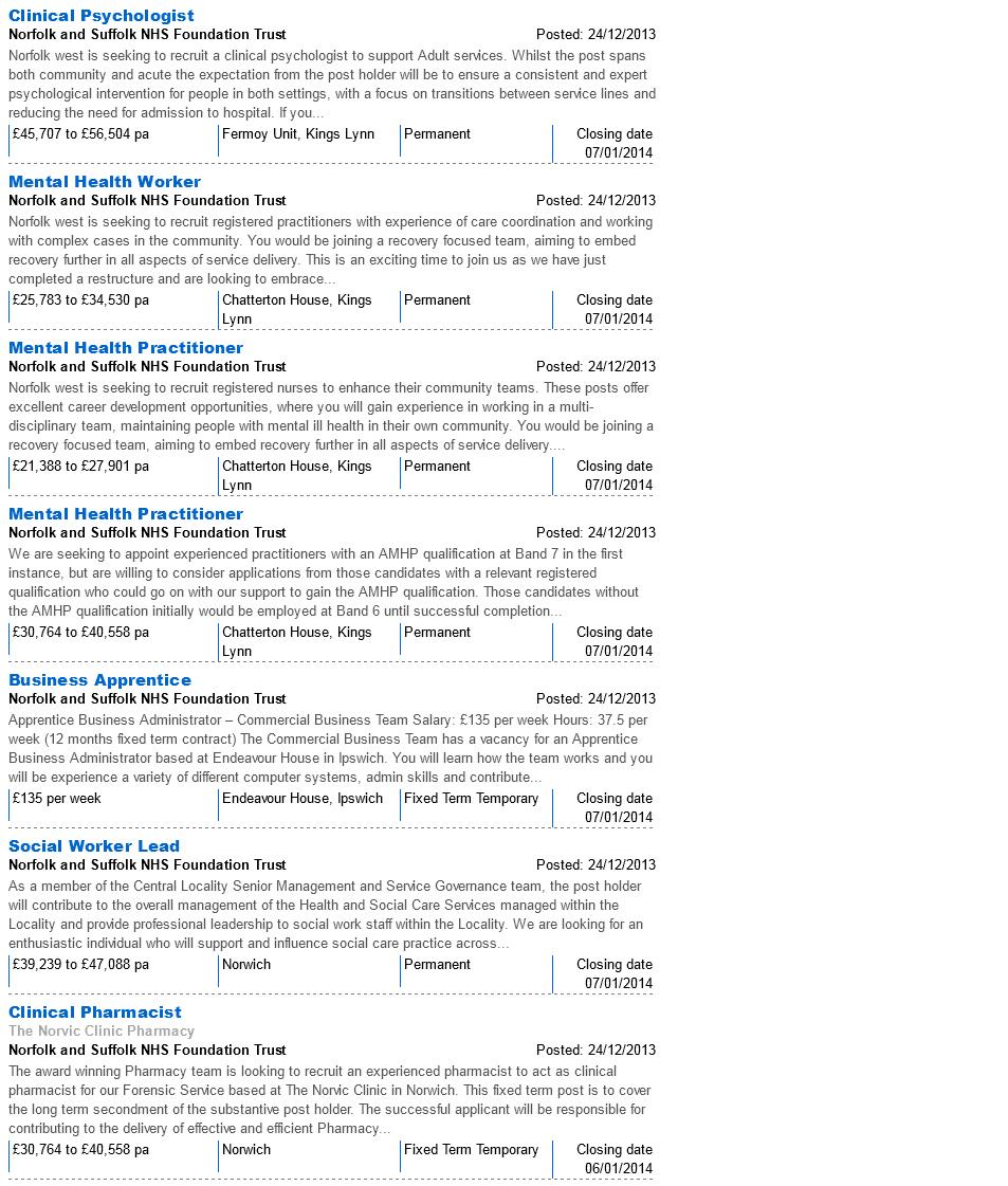 NHSJobs NSFT Vacancies 28.12.13 page 2