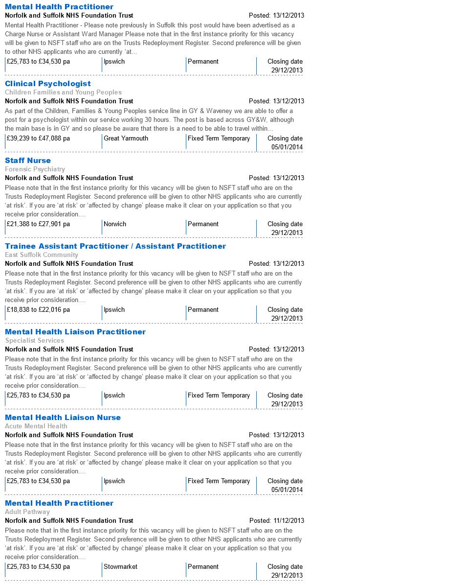 NHSJobs NSFT Vacancies 28.12.13 page 7