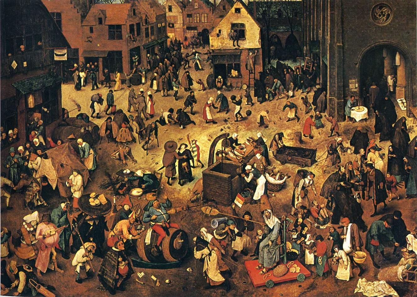 Bruegel Elder Fight between Carnival and Lent