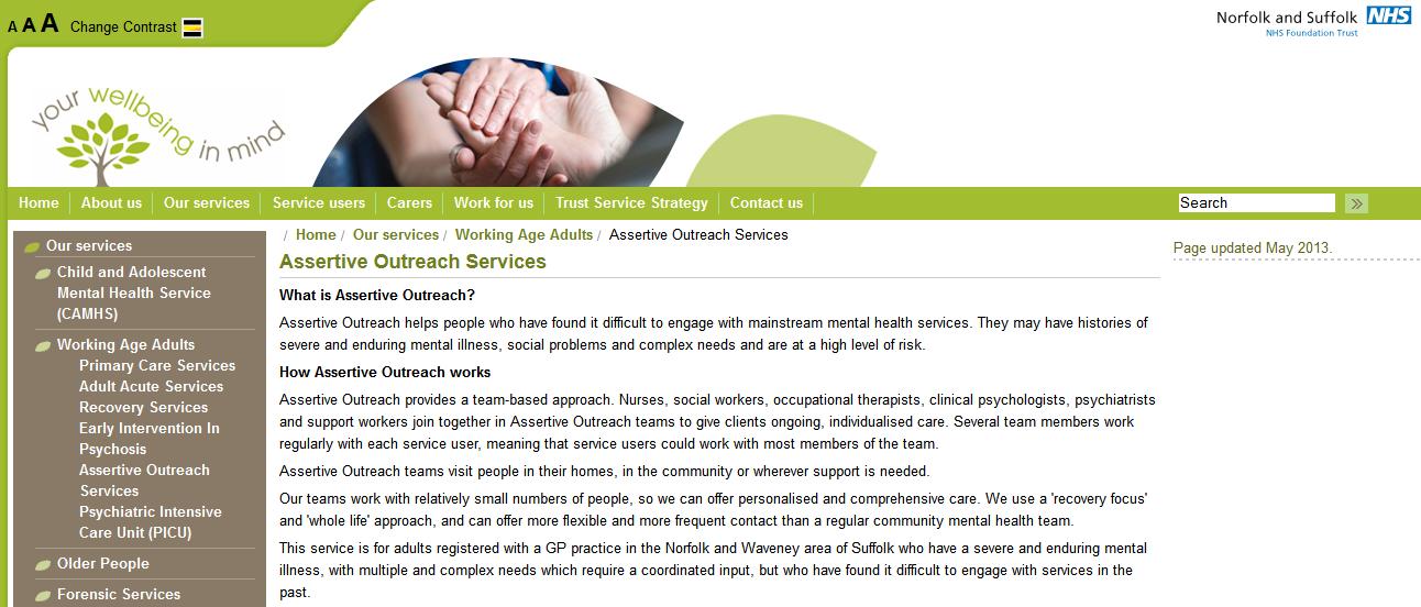 NSFT website - Assertive Outreach Services