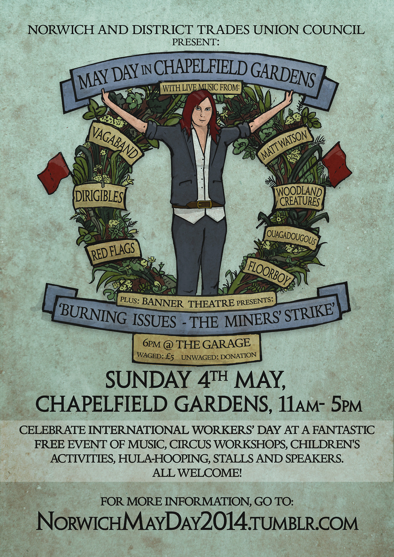May Day 2014 in Chapelfield Gardents Front