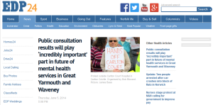 EDP: Public consultation results will play 'incredibly important' part in future of mental health services in Great Yarmouth and Waveney