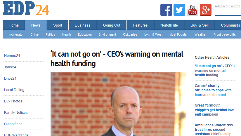 EDP It can not go on - CEOs warning on mental health funding
