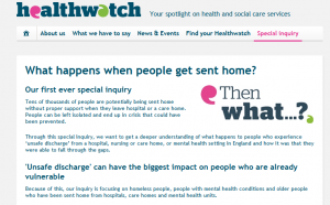 Healthwatch Special Inquiry: What happens when people get sent home?