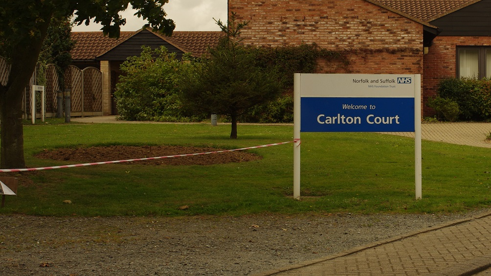 Calrton Court Sign and tape web