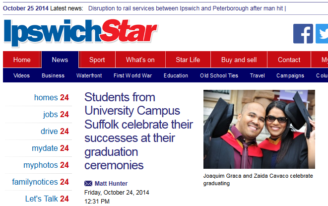 Ipswich Star Students from University Campus Suffolk celebrate their successes at their graduation ceremonies
