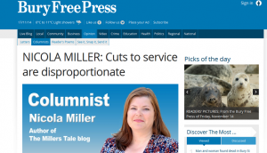 Bury Free Press: NICOLA MILLER: Cuts to service are disproportionate