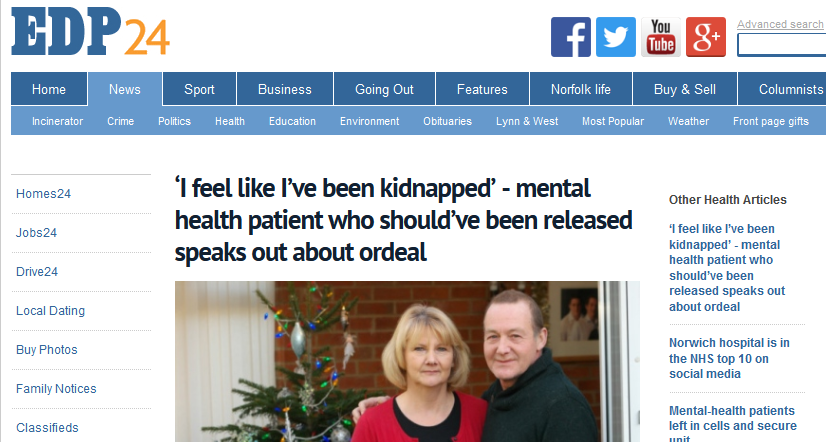 EDP 'I feel like I've been kidnapped' - mental health patient who should've been released speaks out about ordeal