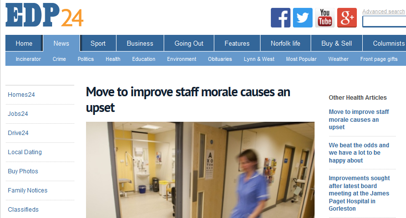 EDP Move to improve staff morale causes an upset