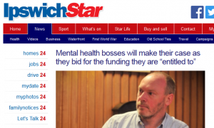 "Ipswich Star: Mental health bosses will make their case as they bid for the funding they are ""entitled to"""