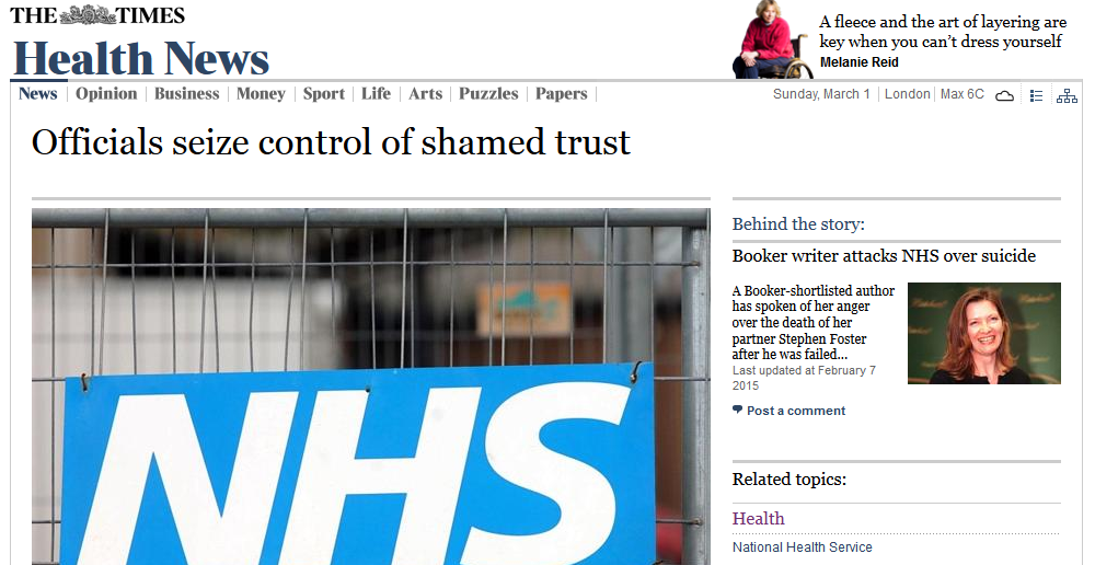 The Times Officials seize control of shamed trust