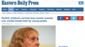 EDP: Norfolk children's services boss reveals 'scandal' over mental health beds for young people