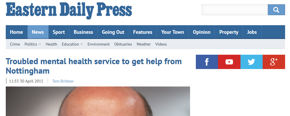 EDP Troubled mental health service to get help from Nottingham